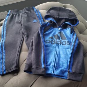 Adidas running outfit for little boy
